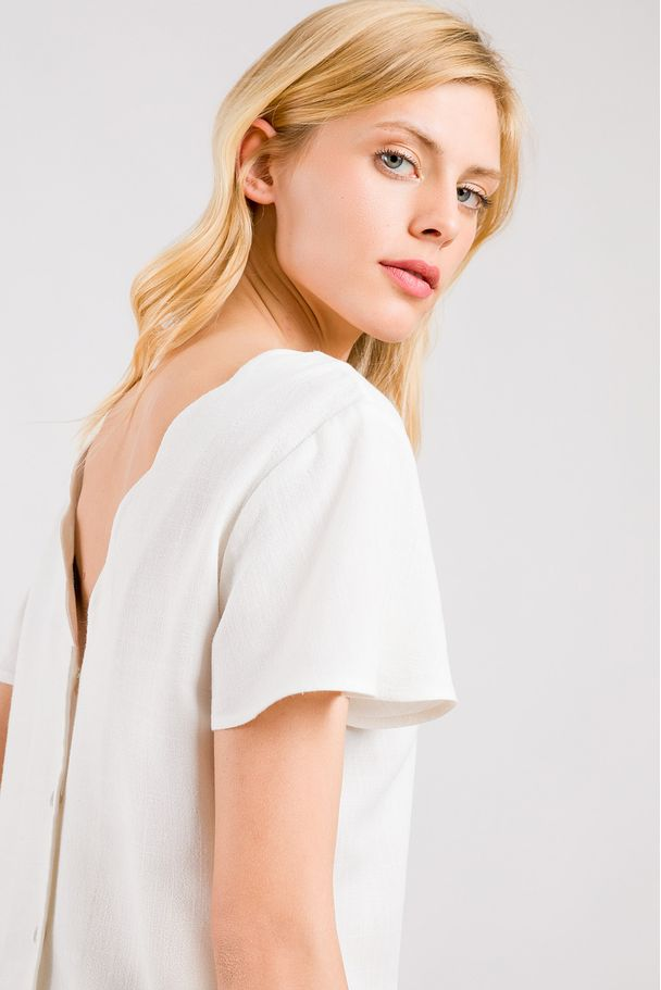 FRONT AND BACK V-NECK TOP