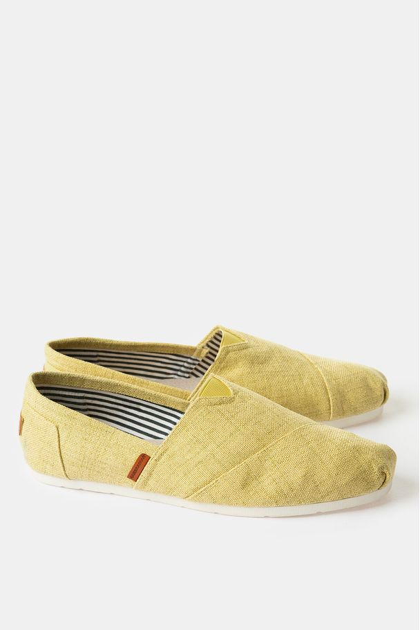 MAN BASIC ESPADRILLE WITH STRIPPED INTERIOR