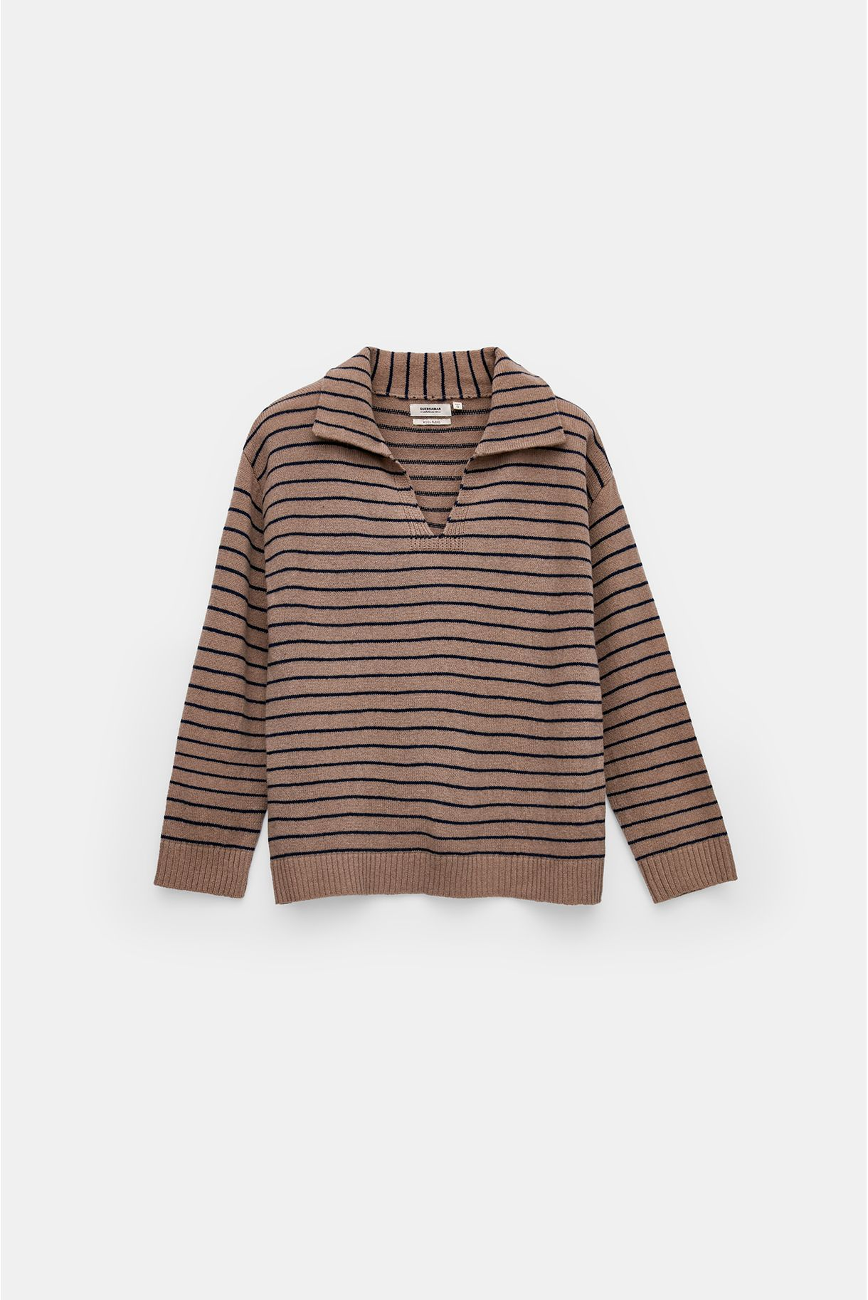 STRIPPED SWEATER WITH COLLAR